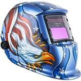 DEKOPRO Welding Helmet Solar Powered Auto Darkening Hood with Adjustable Shade Range 4/9-13 for Mig Tig Arc Welder Mask…
