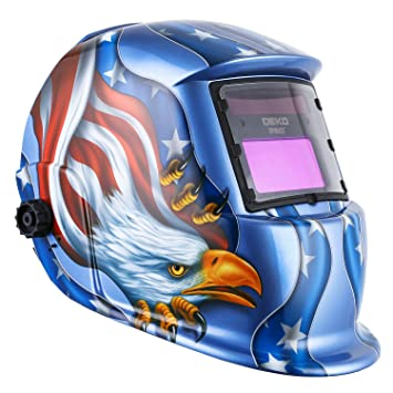 Solar Powered Welding Helmet Auto Darkening Hood With Adjustable