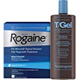 Men's Rogaine Extra Strength 5% Minoxidil Topical Solution for Hair Loss and Hair Regrowth
