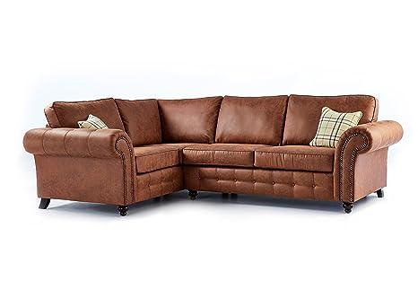 Sofá y cama de alta calidad Oakridge grande de piel para ...