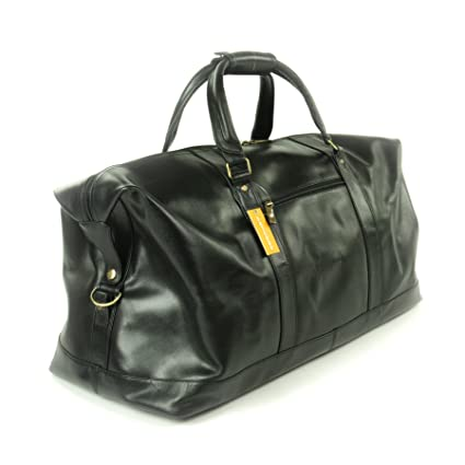 2e2a735f8114 Ashwood XL Travel Weekend Bag - Holdall - Black Leather(Size  Large ...