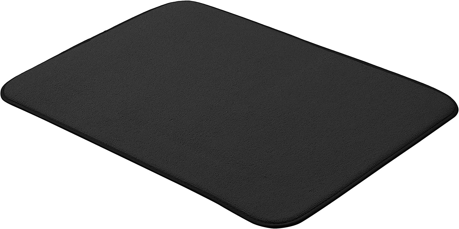 "AmazonBasics Drying Mat - 18x24""- Black, 2-Pack"
