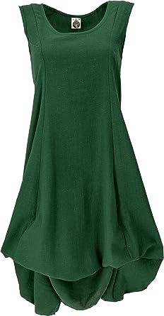 Guru-Shop - Vestido largo de verano para mujer, algodón, largo y medio, ropa alternativa: Amazon.es: Ropa y accesorios