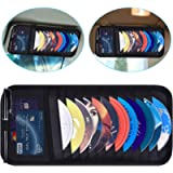Car CD Case Holder, Wisdompro Vehicle Sun Visor Organizer for Cars with 12 DVD Storage Sleeves, 1 Mesh Pocket, 1 Pen…