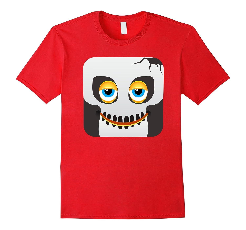 Zombie Undead Skull Emoji Emoticon Halloween Tshirt-CL