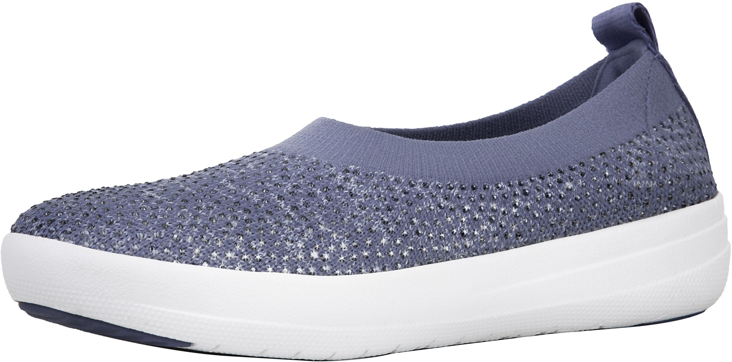 75907df6b Galleon - FitFlop Women s Uberknit Slip-On Ballerina Indian Blue Powder  Blue 6 M US