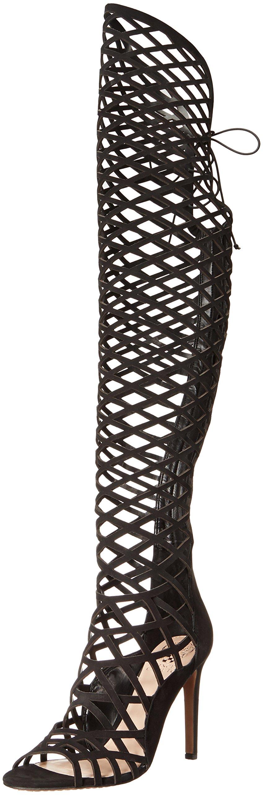 Vince Camuto Women's Keliana Gladiator Sandal, Black, 7.5 M US