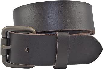 Brown TBS3260-200 Full Grain Solid Cowhide Leather Belt w//Brass Buckle