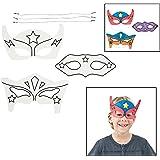Color-Your-Own Superhero Masks (12 Pack)
