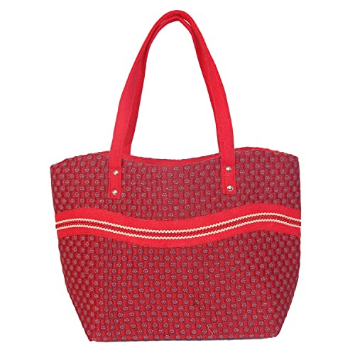 c2db132a89 Image Unavailable. Image not available for. Colour  Womaniya Women s  Shoulder Bag (Red-Handicraft Jute ...