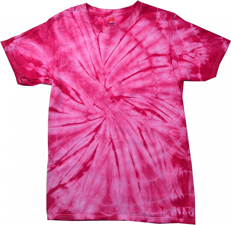 Colortone - Camiseta psicodélica Monocolor de Manga Corta para Adultos Uninex - Verano Hippie: Amazon.es: Ropa y accesorios