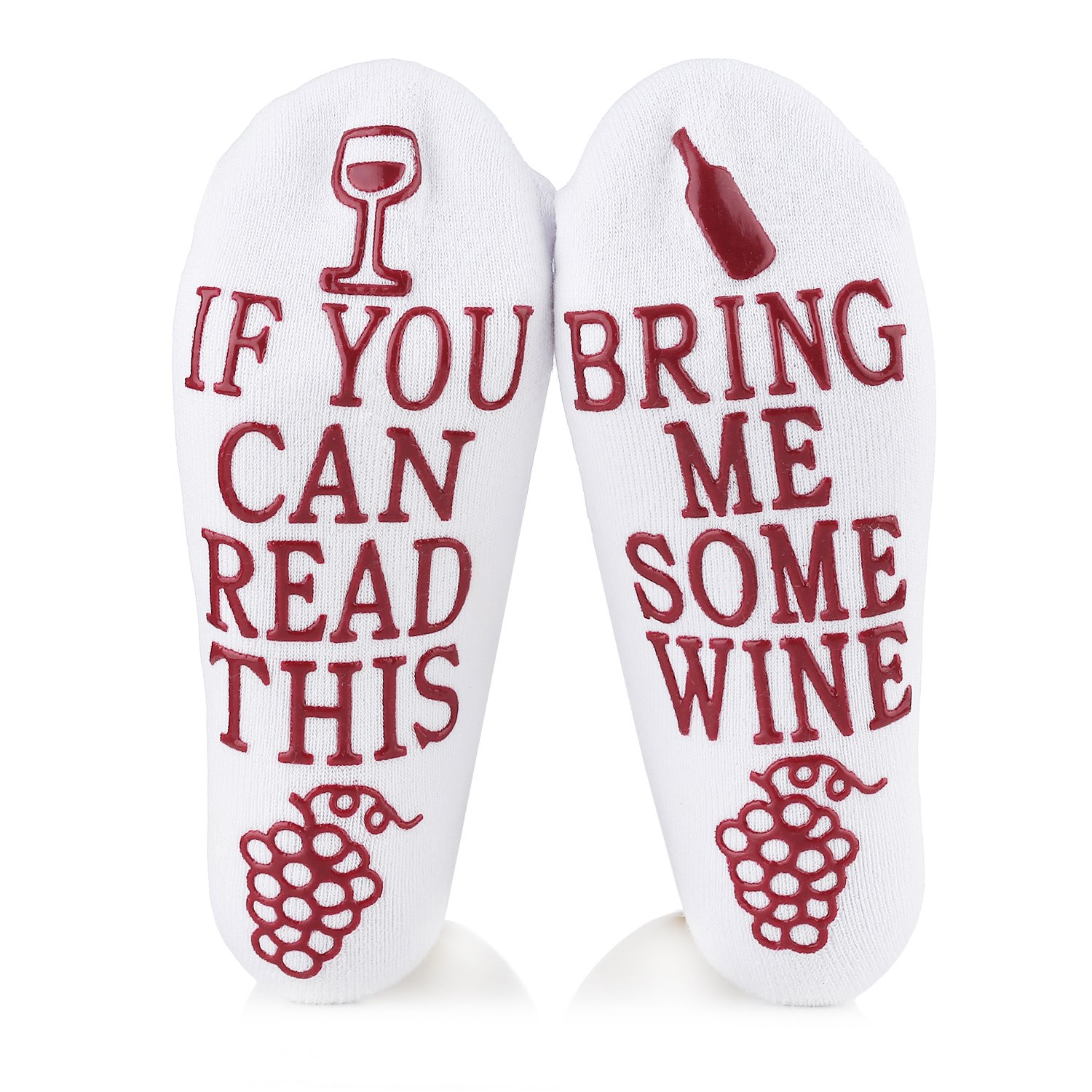 Wine Socks With Funny Words If You Can Read This,Cupcake Gift Packaging,Valentine's Day,Mother's Day,Christmas Day,Birthday,Anniversary,Gifts for Women,Mom,Her,Wife,Sister,Friends,Teacher