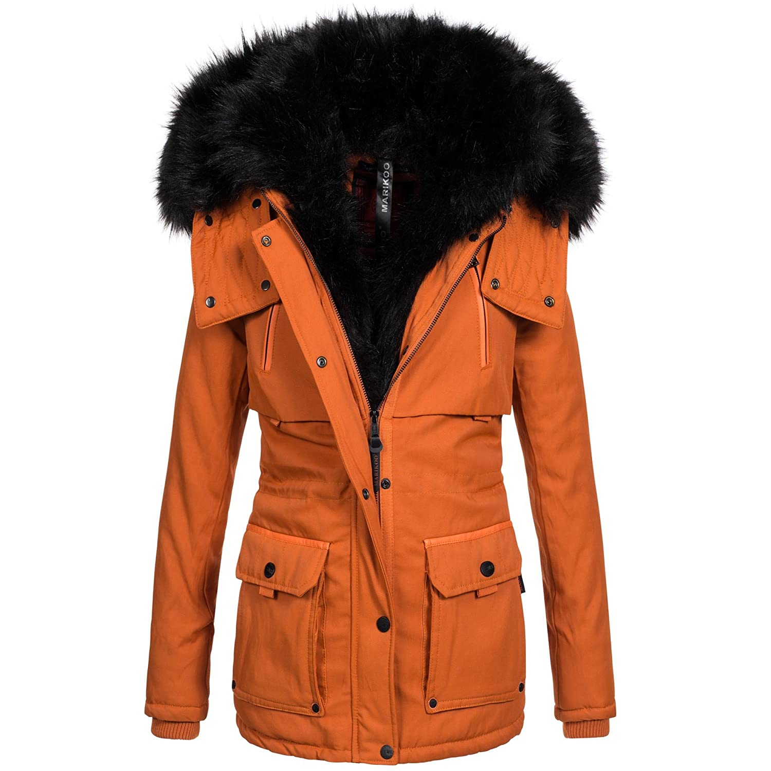 Damen jacke winter orange
