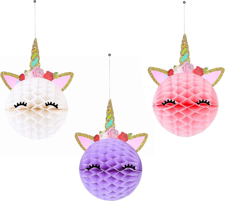 Unicorn Honeycomb Centerpieces