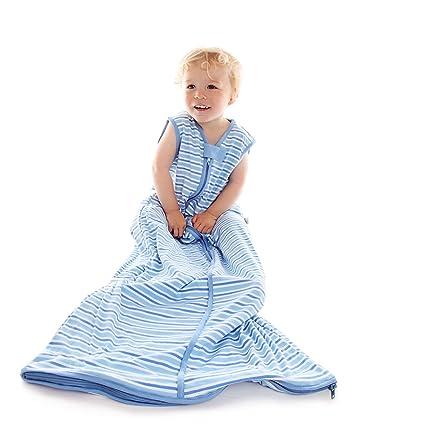 Saco de dormir para bebé Slumbersac grosor Standard Approx. 2.5 Tog – Simply rayas azules