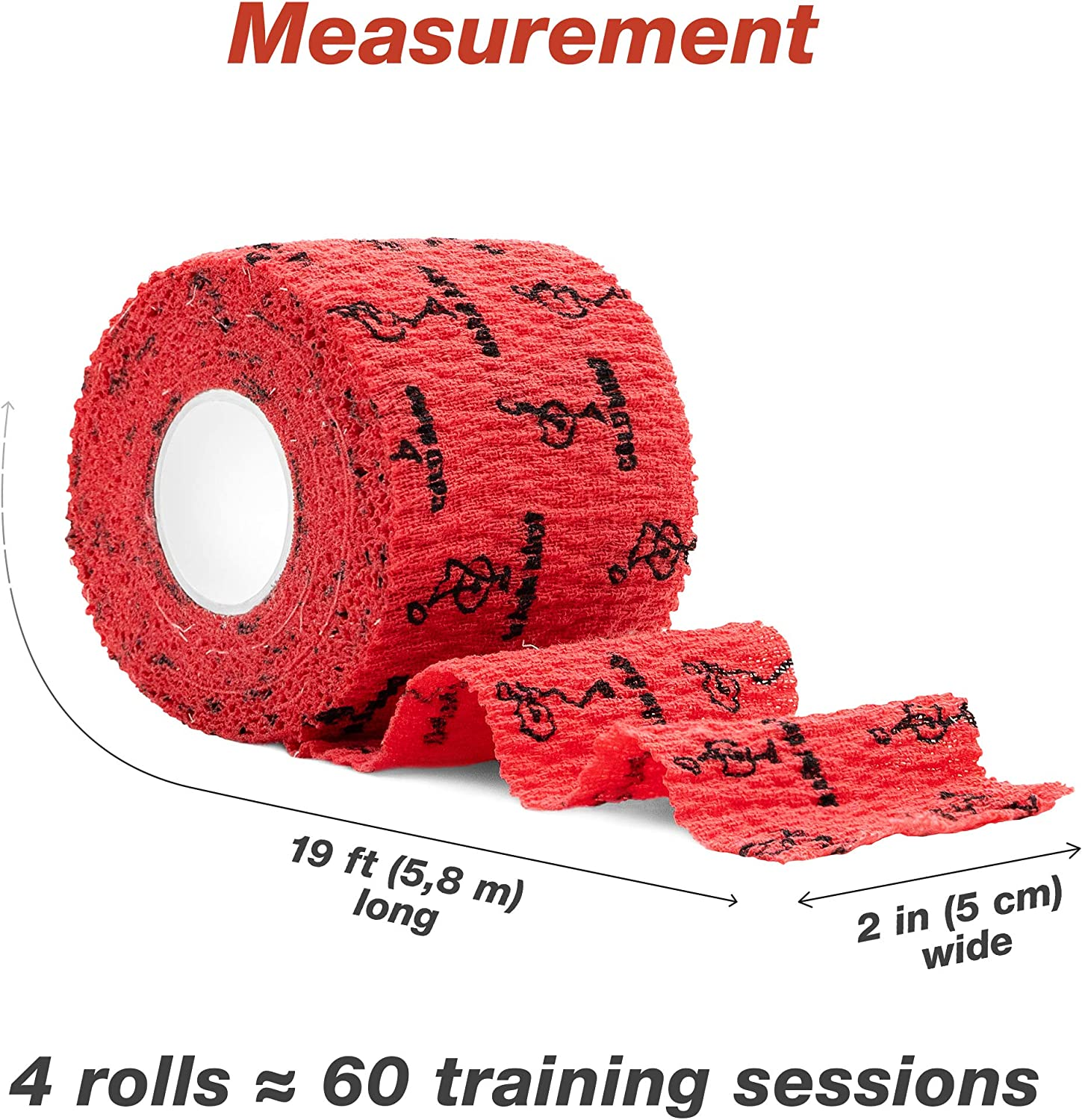 WARM BODY COLD MIND Premium Lifting Thumb Tape for Weightlifting Powerlifting /& Strength Deadlift Training Hook Grip Tearable Elastic Cotton Sweat Proof and Breathable