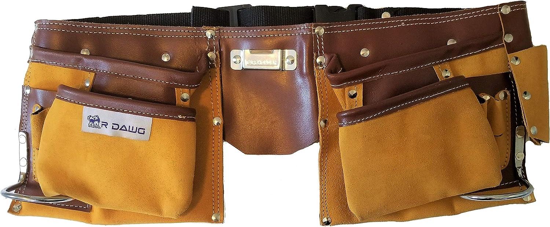 R Dawg 11-Pocket Suede Leather Tool Bag