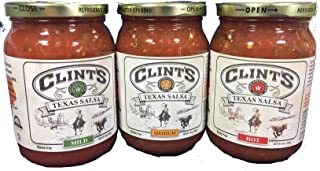 product image for Clint's Texas Salsa Sampler 16oz Jar (Pack of 3 Different Flavors)