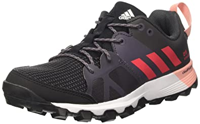 adidas Kanadia 8 Trail, Damen Laufschuhe, Schwarz (Core Black/Core Pink/Trace Grey), Gr. 36 2/3 (UK 4)