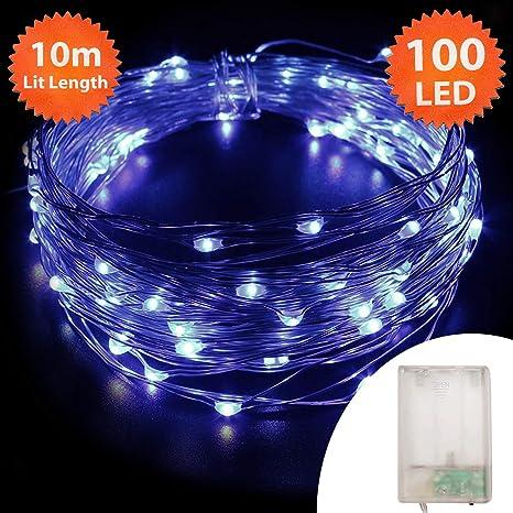 Blaue Weihnachtsbeleuchtung.Lichterkette Weihnachtsbeleuchtung 100 Led Innen Und