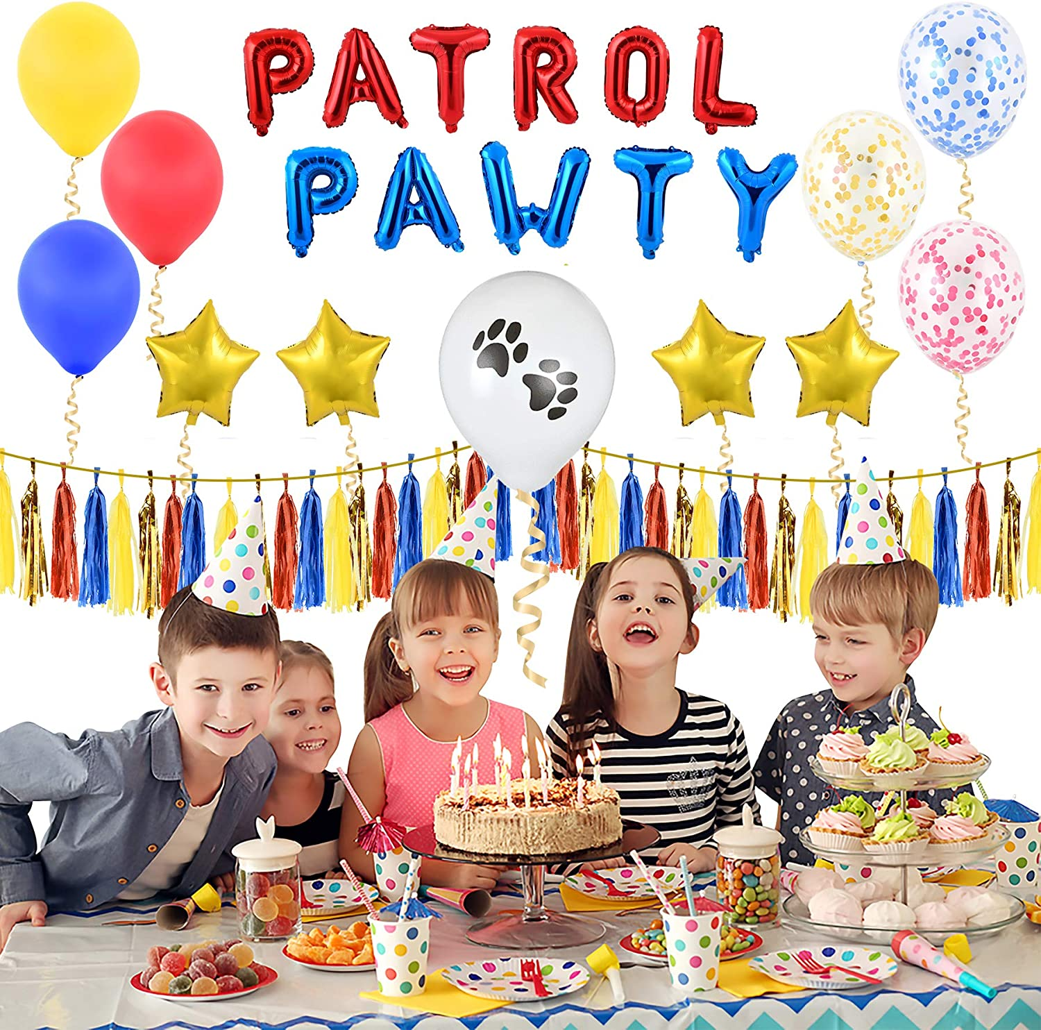 Amazon.com: Pawty Patrol Party Supplies - Incluye Spell Out ...