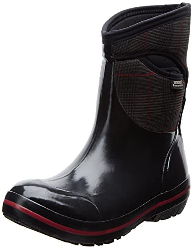 Bogs Women's Plimsoll Prince Of Wales Mid Waterproof Insulated Boot