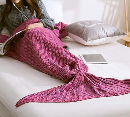 Amazoncom Enesu Mermaid Tail Blanket Crochet Mermaid Blanket For