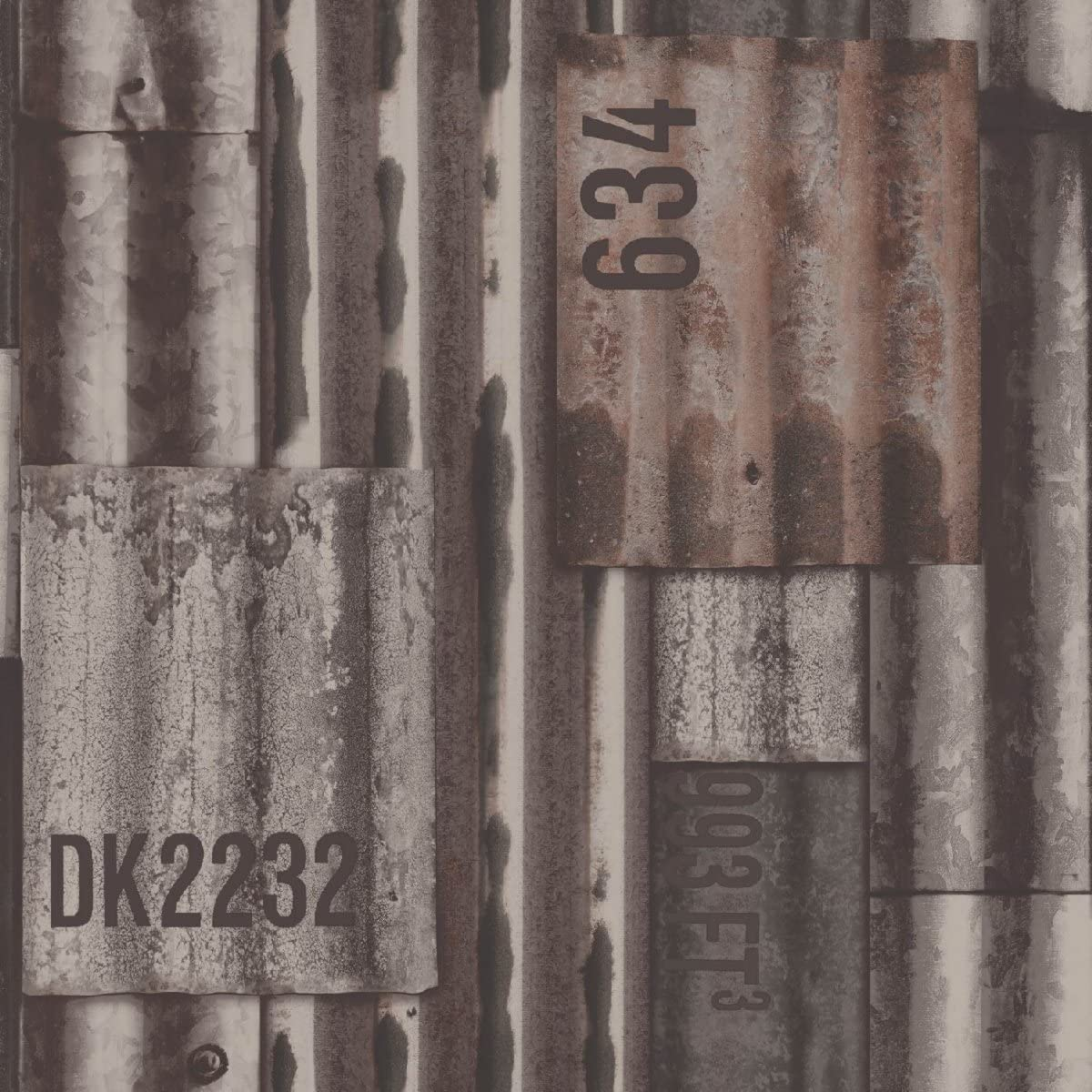 Papel pintado no tejido UGEPA chapa ondulada, Color, J87508: Amazon.es: Bricolaje y herramientas