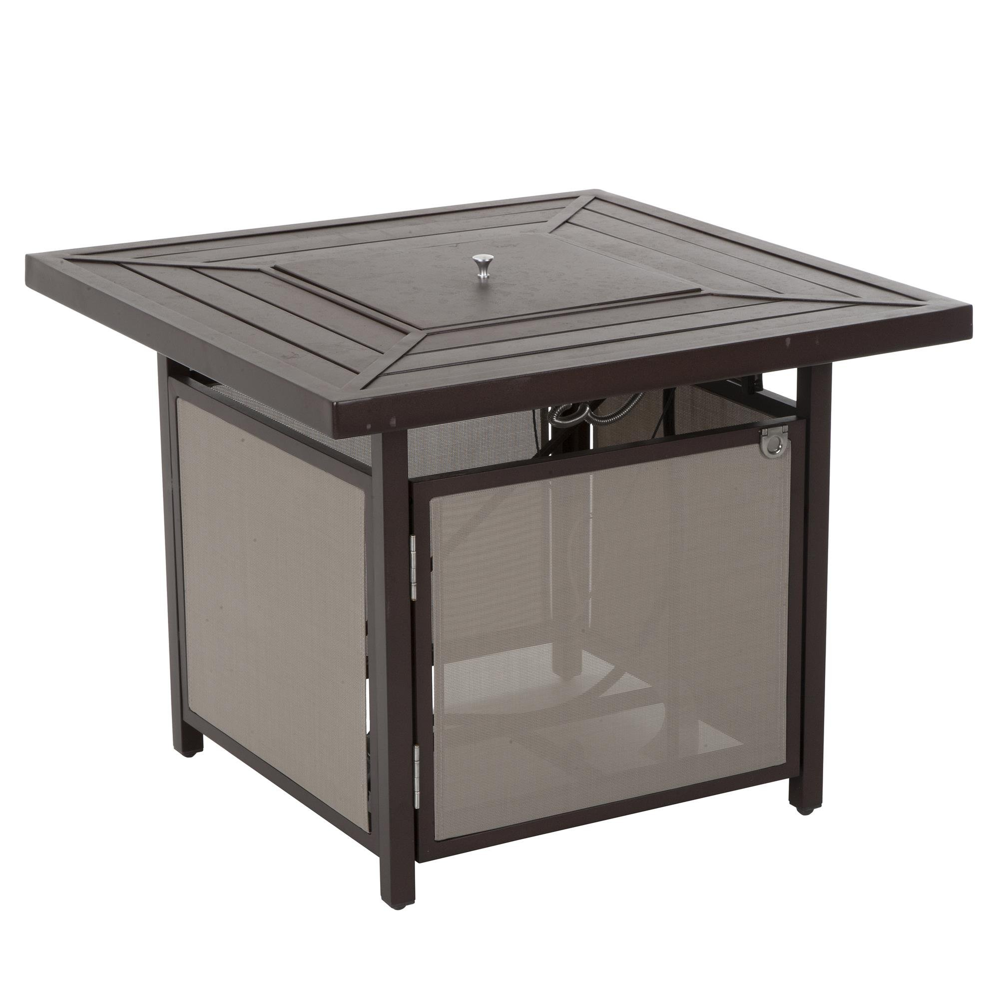 COSCO 88651SBTE Outdoor Living Stone Lake Patio Propane Fire Pit Table, Brown by Cosco Outdoor Living