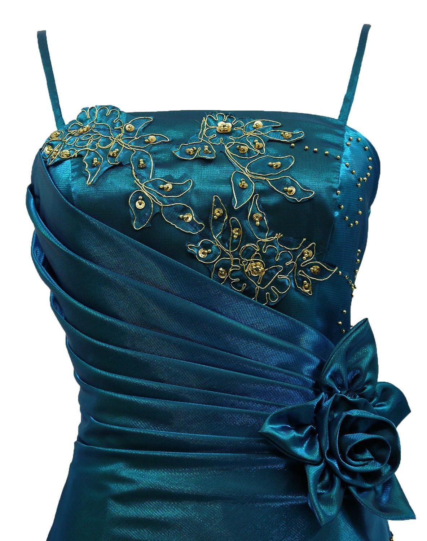 04a418042c Cherlone Blue Long Wedding Evening Formal Ballgown Bridesmaid Dress Size 18-20   Amazon.co.uk  Clothing