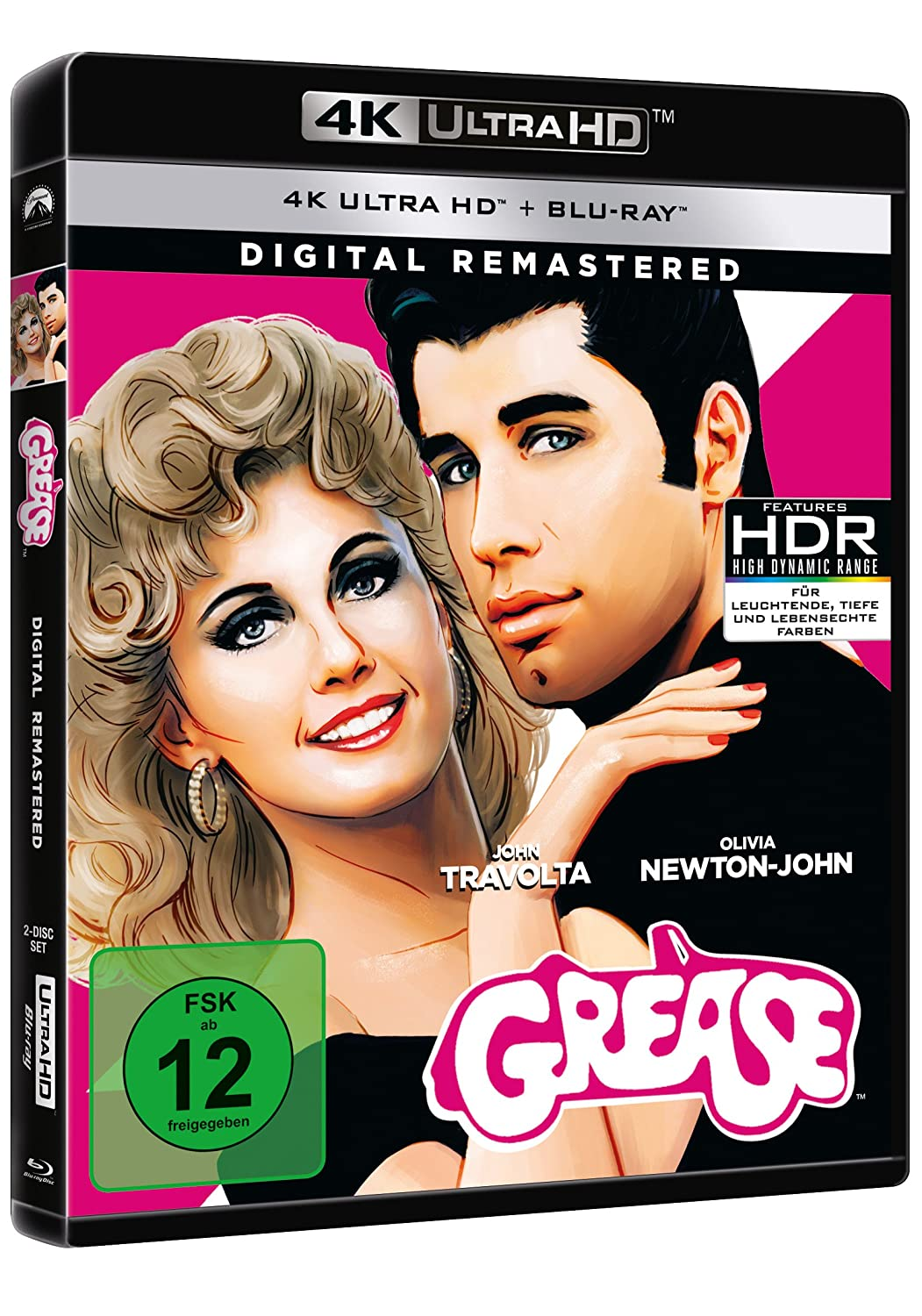 Grease - Remastered 4K Ultra HD + Blu-ray Alemania Blu-ray ...