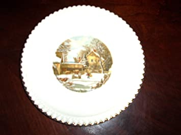 Amazon.com: The Farmer\'s Home-Winter by Currier & Ives Plate: Home ...
