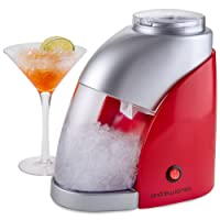 Andrew James Electric Ice Crusher In Stunning Red / Silver, 55W, 600ML Capacity