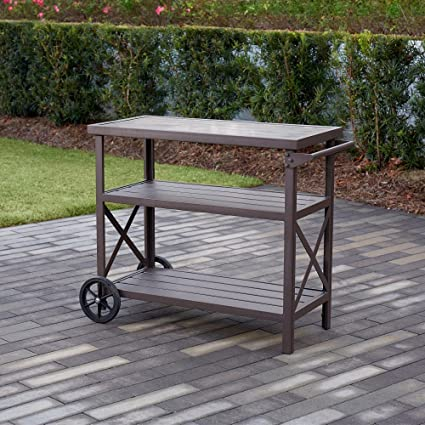Image Unavailable - Amazon.com - Home Improvements Brown Steel & Aluminum 3 Tier Indoor