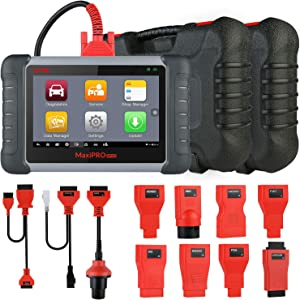 Autel MP808K Diagnostic Scan Tool with OE-Level All Systems Diagnosis and 23 Services, Key Coding, Bi-Directional Control, Auto VIN, Oil Reset, EPB, BMS, SAS, DPF, Upgraded Ver. of DS808, MP808