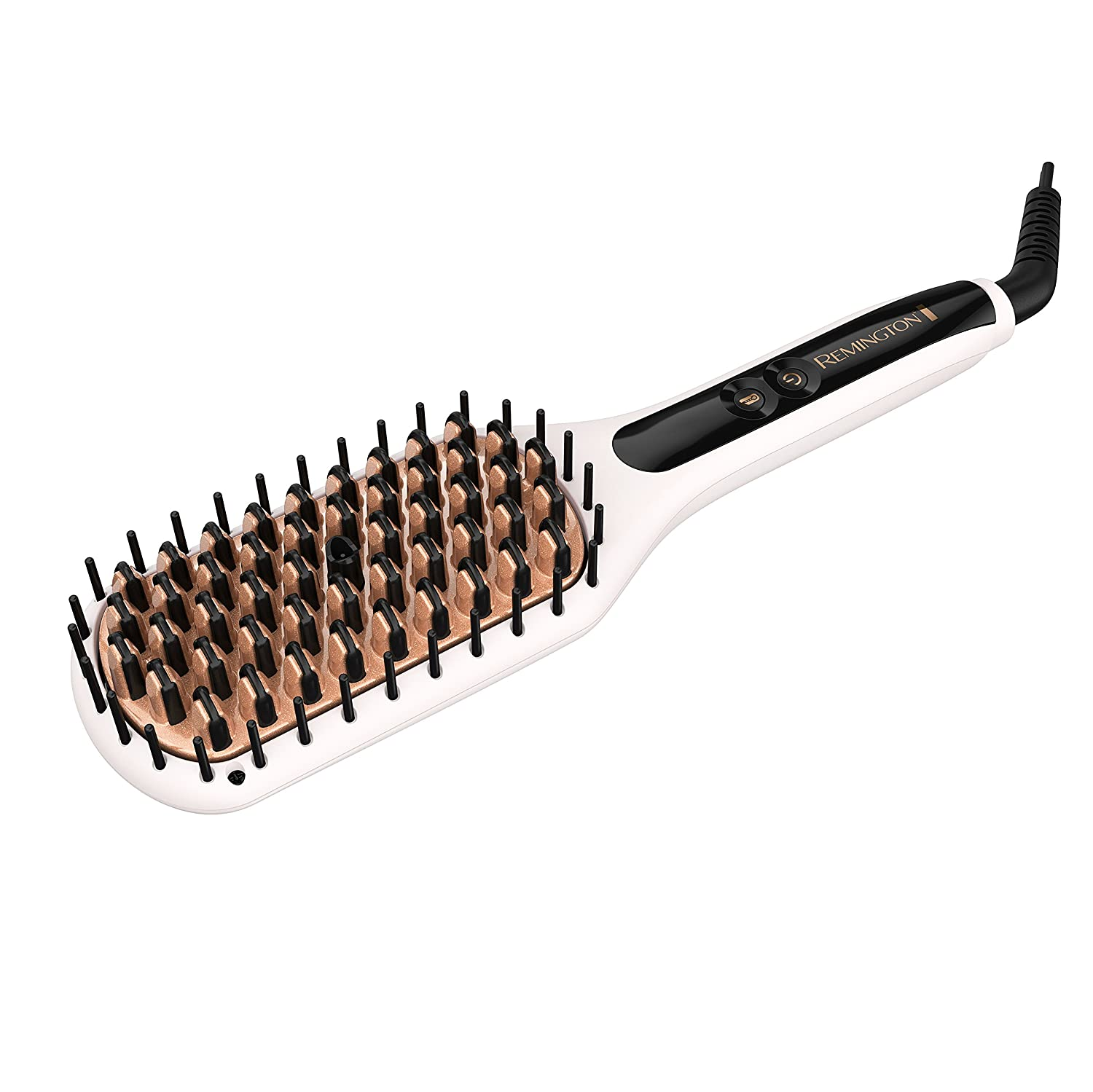 Remington Pro 2-In-1 Heated Straightening Brush with Thermaluxe Advanced Thermal Technology, Purple, CB7480SA
