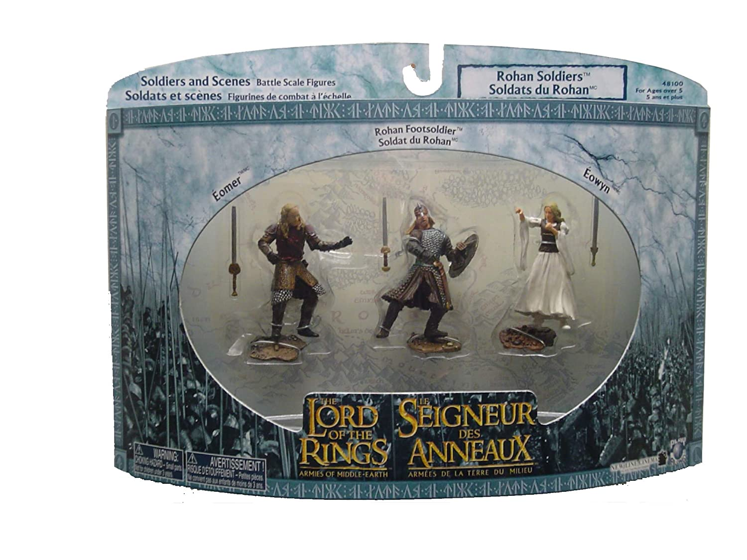 Lord of the Rings Armies of the Middle Earth Rohan Soldiers 3-pack Figures Play Along 48100