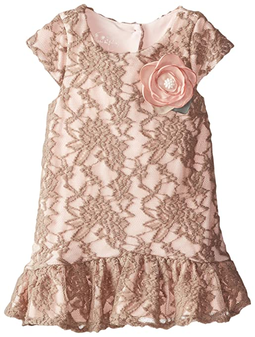 1920s Children Fashions: Girls, Boys, Baby Costumes Pippa & Julie Little Girls Lace Drop Waist Dress $48.00 AT vintagedancer.com