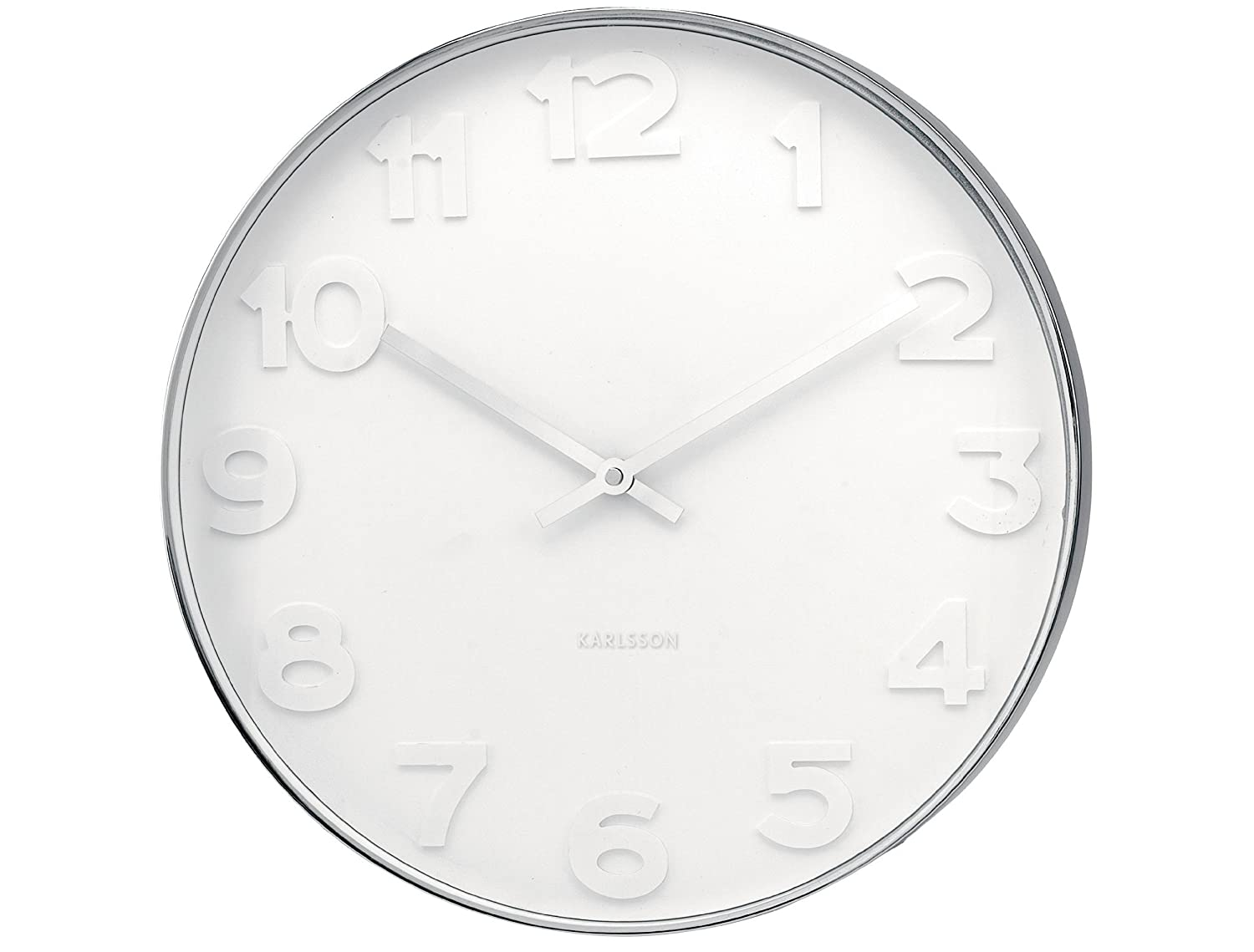 karlsson mr white numbers wall clock white amazoncouk  - karlsson mr white numbers wall clock white amazoncouk kitchen  home