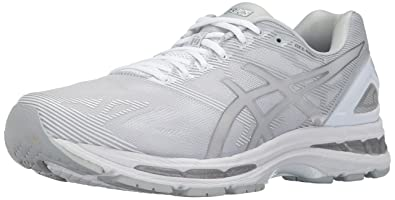 ASICS Men's Gel-Nimbus 19 Running-Shoes, Glacier Grey/Silver/White