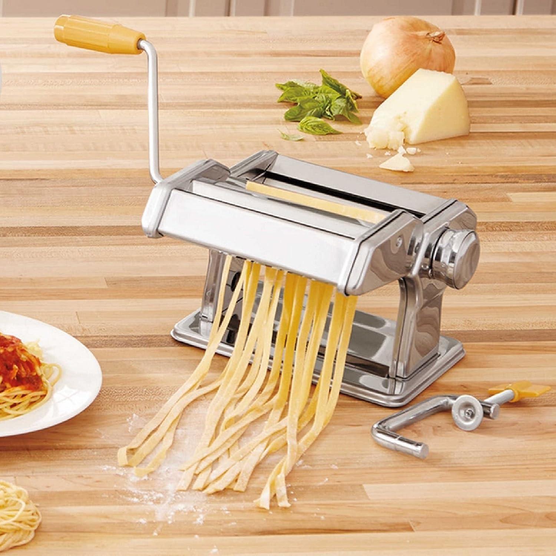 Gr8 Home Pasta Maker Kitchen Tool Spaghetti Roller Lasagne Tagliatelle Cutter Stainless Steel Machine Manual Gadget Eurotrade (w) Ltd