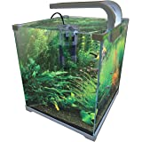 Vepotek AQUARIUM FISH TANK NANO Kit 4 Gallons w/LED light and filter
