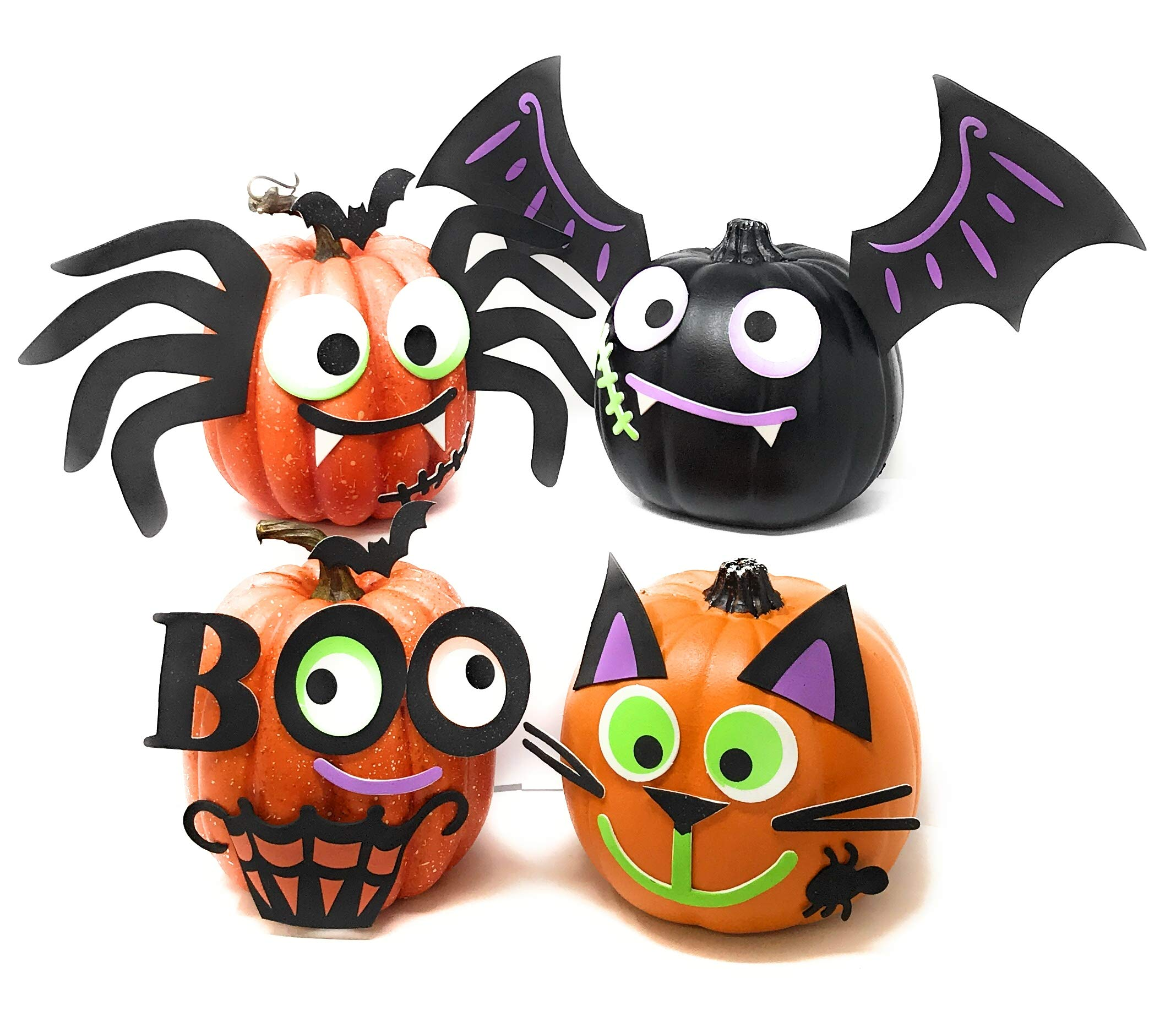 Funiverse Mega Bulk Pack 126 Piece Foam Halloween Pumpkin Decorating Craft Kit Stickers - Makes 16 Pumpkins (Pumpkins Not Included) by Funiverse