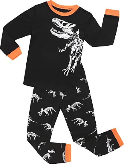 shelry Boys Dinosaur Pajamas Children Christmas Clothes 100/% Cotton Kids Sleepwear