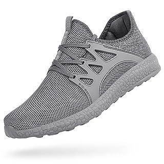 Feetmat Tennis Shoes for Men Non Slip Mesh Running Gym Shoes Lightweight Knitted Walking Athletic Shoesgrey 12.5