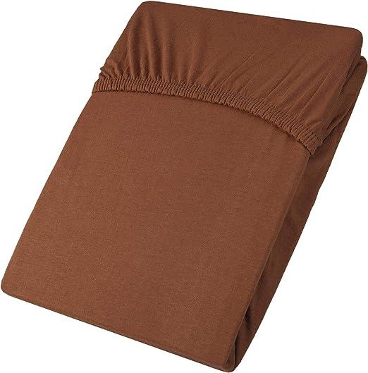 aqua-textil Viana Sábanas Ajustables Cama Boxspring algodón 180x200-200x200 cm marrón: Amazon.es: Hogar