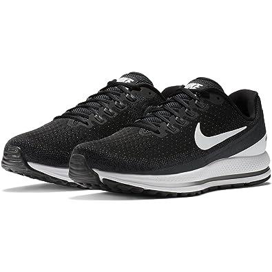 NIKE Men's Air Zoom Vomero 13 Running Shoe Wide (2E) Black/White-