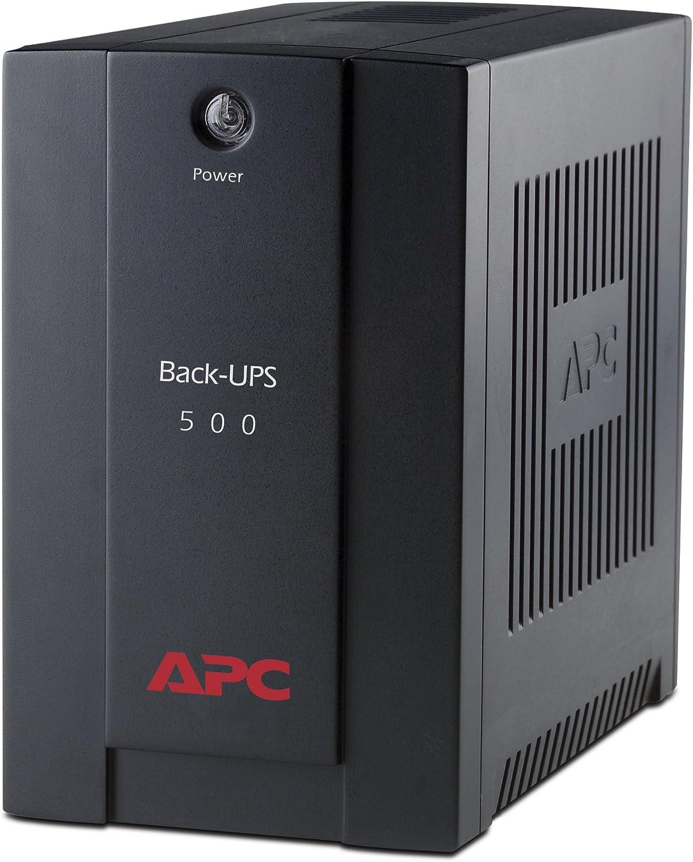 APC BX500CI Back-UPS BX - Sistema de alimentación ininterrumpida SAI 500VA (3 salidas tipo IEC, AVR)