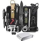 KEPEAK Survival Kit, Survival Gear and Equipment 14 in 1, Stocking Stuffers for Men Husband Father Boy, Emergency Survival Ki