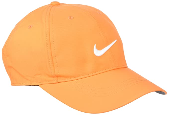 28b29e55 Image Unavailable. Image not available for. Color: Nike Mens Golf Legacy91  Tech Adjustable Hat Bright Mandarin